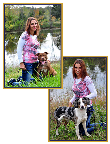 Jess from River City Dog Training with some friends.